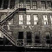 Blackened Fire Escape Art Print