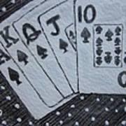 Blackjack Hand Art Print
