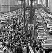 Blackout Jams Brooklyn Bridge Art Print