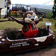 Blackpool Pleasure Beach Lancashire England Art Print