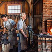 Blacksmith And Apprentice 2 Art Print by Steve Harrington