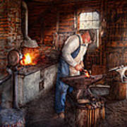 Blacksmith - The Smith Art Print by Mike Savad