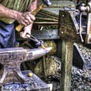 Blacksmith Working Iron V1 Art Print