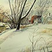 Blackstone River Snow  Art Print by Scott Nelson