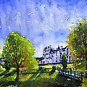 Blair Castle Bridge Scotland Art Print