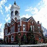 Blairsville Courthouse At Christmas Art Print