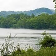 Blanket Of Fog On Clinch River  Art Print