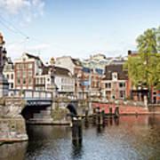Blauwbrug In Amsterdam Art Print