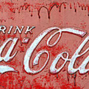 Bleeding Coke Red Art Print