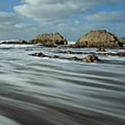 Blegberry Beach Devon Art Print