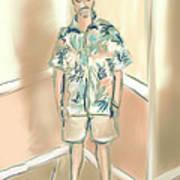 Blended Man Art Print