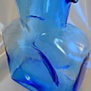 Blenko Blue Art Print