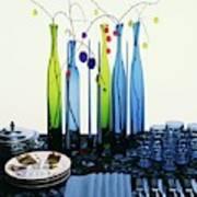 Blenko Glass Bottles Art Print