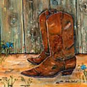 Bless My Boots Art Print