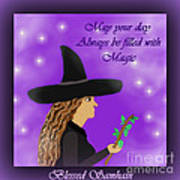 Blessed Samhain Witch Art Print