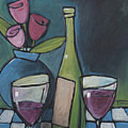 Blind Date With Wine Art Print