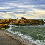 Blind Pass Storm Rocks - Captiva  Art Print