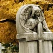 Blissful Angel In Autumn Art Print