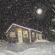 Blizzard At The Cabin Art Print by Barbara Griffin