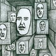 Block Head Art Print