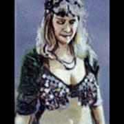 Blonde Bellydancer Art Print