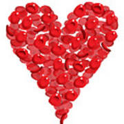 Blood Cells Heart Art Print