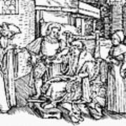 Bloodletting, 1540 Art Print