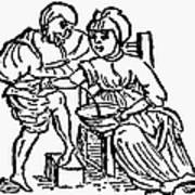 Bloodletting, 15th Century Art Print