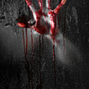 Bloody Hand Print by Jt PhotoDesign