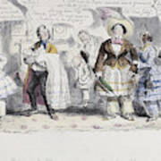 Bloomer Cartoon, C1851 Art Print