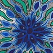 Blooming In Blue Art Print