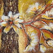 Blooming Tree Art Print by Elena  Constantinescu
