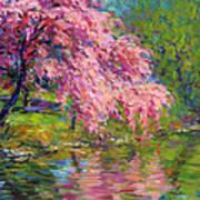 Blossoming Trees Landscape  Art Print