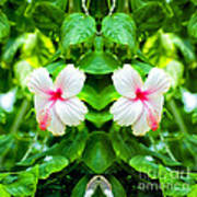 Blowing In The Breeze Mirror Image Art Print