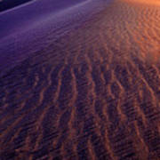 Blowing Sand At Death Valley Art Print