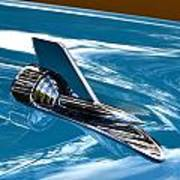 Blue 57 Chevy Bel Air Art Print