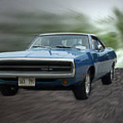 Blue 70 Charger Art Print