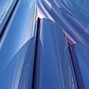Blue Abstract Art Print