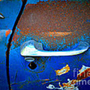 Blue And Rusty Picking Art Print