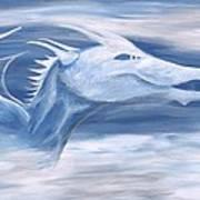 Blue And White Dragon Art Print
