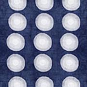 Blue And White Shibori Balls Art Print