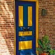 Blue And Yellow Door Art Print