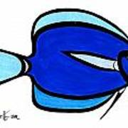 Blue Angele Art Print