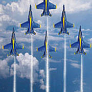 Blue Angels Art Print by J Biggadike