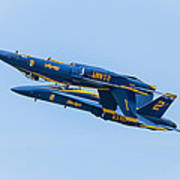Blue Angels Upright And Inverted 2 Art Print