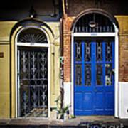 Blue Arch Door Art Print