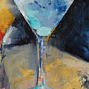 Blue Art Martini Art Print