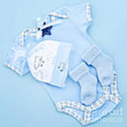 Blue Baby Clothes For Infant Boy Art Print