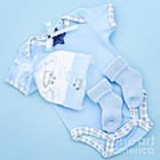 Blue Baby Clothes For Infant Boy Art Print by Elena Elisseeva