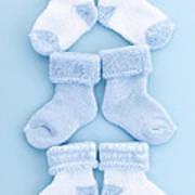 Blue Baby Socks Art Print by Elena Elisseeva